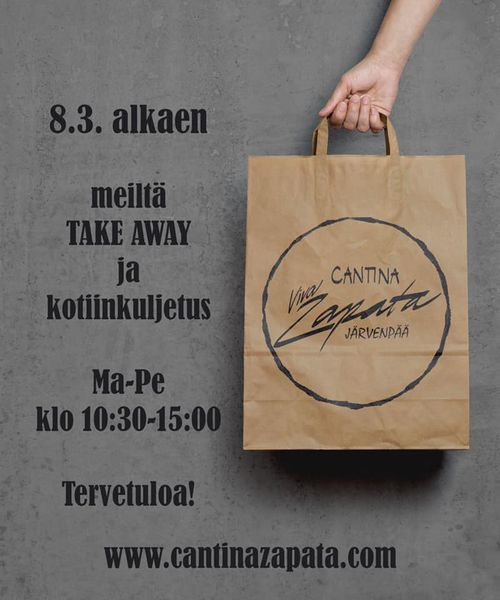 Take away 8.3. alkaen